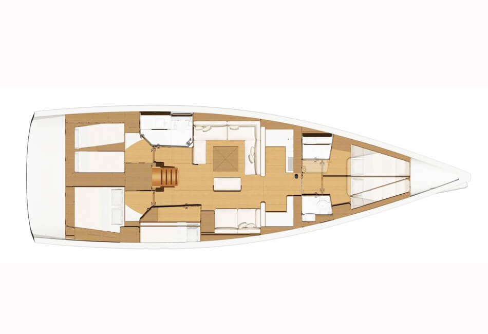 49.9 Ft Dufour 520GL sailboat CRBN-2019